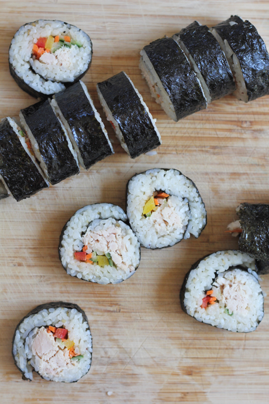 Tuna Veggie Rolls by Hip Foodie Mom_on board