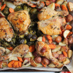 One Pan Roast Chicken with Root Vegetables
