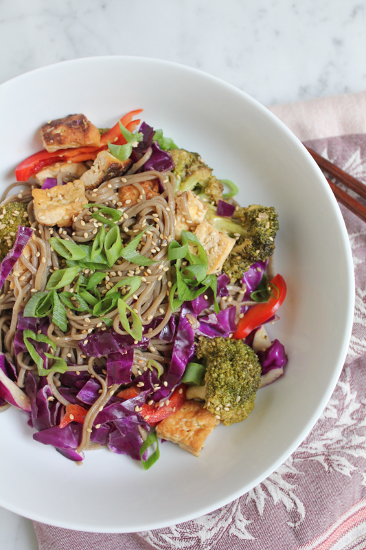 Quick and Easy Soba Noodle Salad Bowl by Hip Foodie Mom