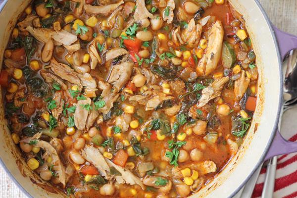 pot of white bean chicken chili