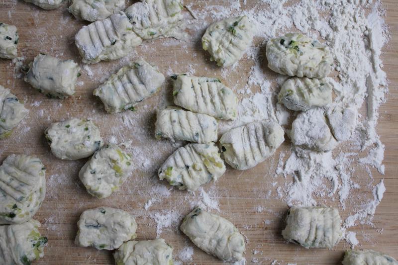 Zucchini Ricotta Gnocchi Prep