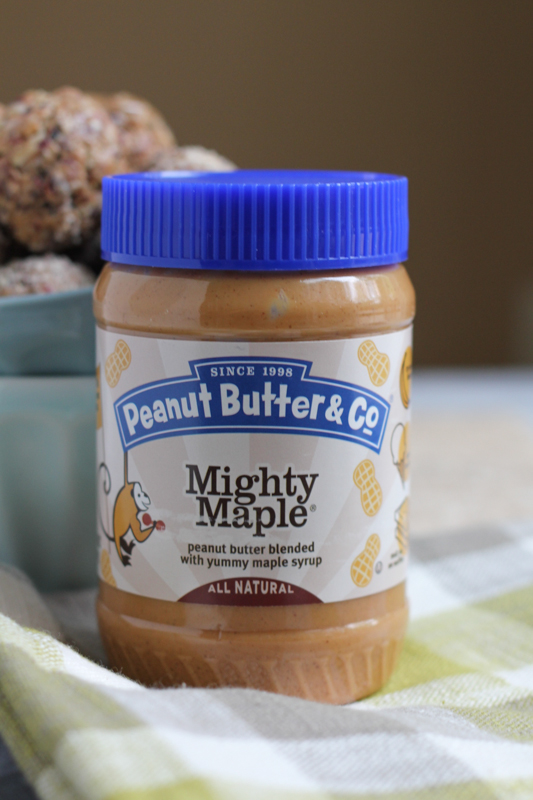 Peanut Butter and Co. Mighty Maple Peanut Butter- so good!!!!