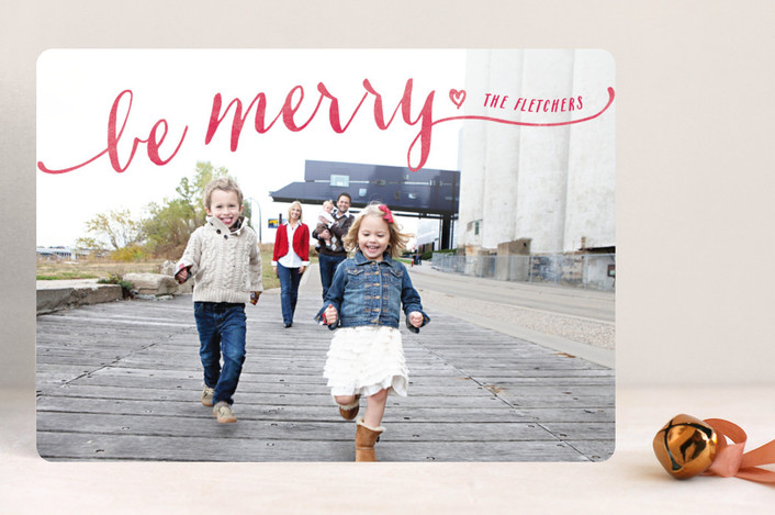 """""""Be Merry"""" from Minted.com + Enter to win a $50 gift code for the holidays! #giveaway #holidays #minted #holidaycards"""