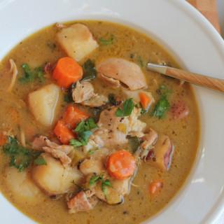 bowl of homemade chicken stew