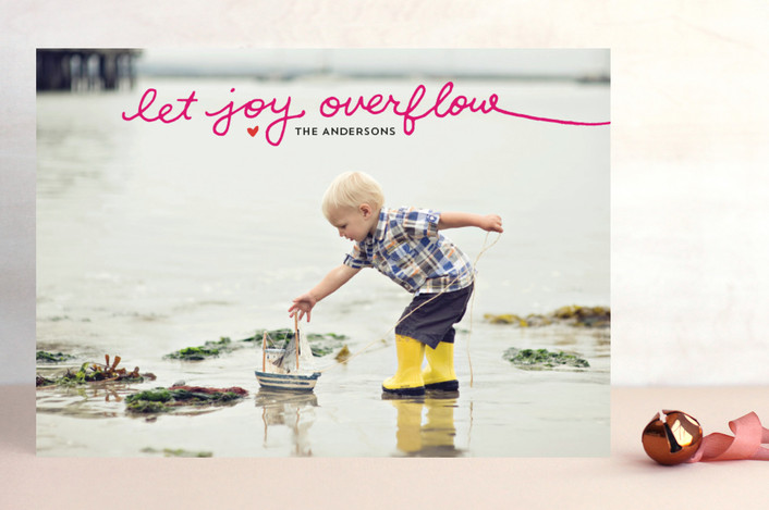 """""""Let Joy Overflow"""" from Minted.com + Enter to win a $50 gift code for the holidays! #giveaway #holidays #minted #holidaycards"""