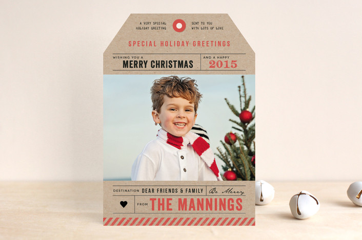 """""""Merry Christmas Tag"""" from Minted.com + Enter to win a $50 gift code for the holidays! #giveaway #holidays #minted #holidaycards"""