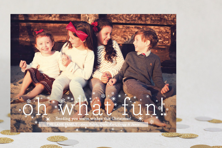 """""""Oh What Fun"""" from Minted.com + Enter to win a $50 gift code for the holidays! #giveaway #holidays #minted #holidaycards"""
