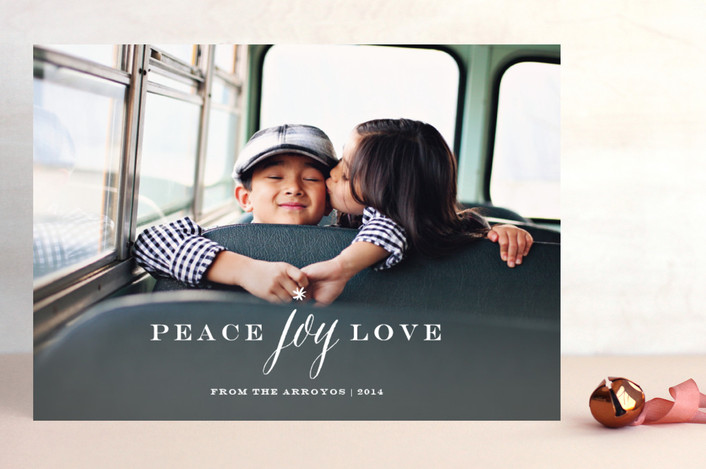 """""""Peace Joy Love"""" from Minted.com + Enter to win a $50 gift code for the holidays! #giveaway #holidays #minted #holidaycards"""