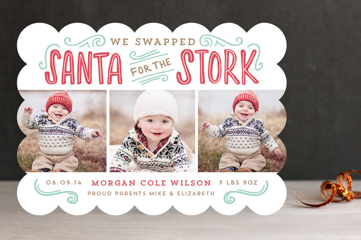 """""""Santa for the Stork"""" from Minted.com + Enter to win a $50 gift code for the holidays! #giveaway #holidays #minted #holidaycards"""