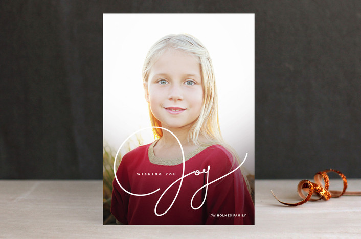 """""""Wishing You Joy"""" from Minted.com + Enter to win a $50 gift code for the holidays! #giveaway #holidays #minted #holidaycards"""
