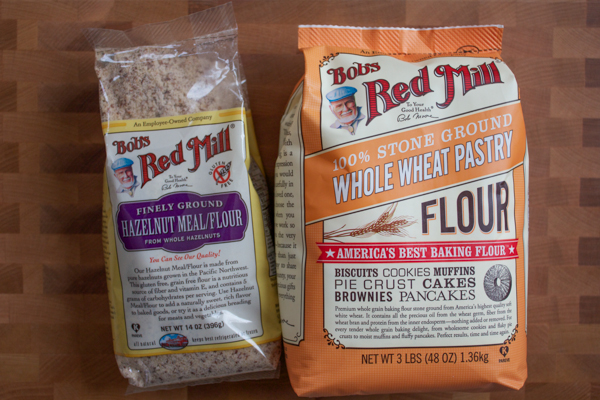 Bob's Red Mill Hazelnut Meal and Whole Wheat Pastry Flour
