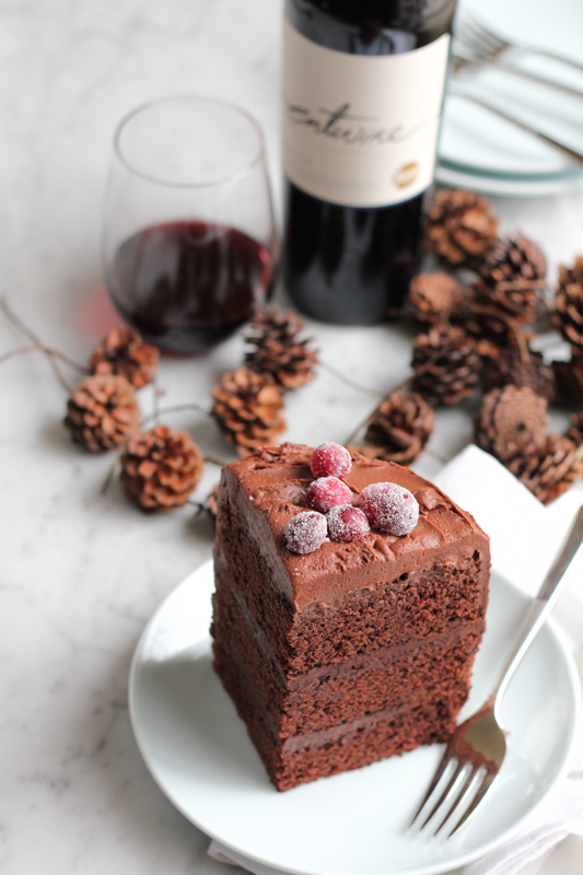 slice of decadent chocolate dessert