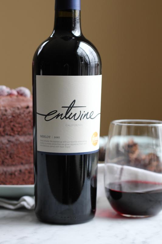 bottle of Entwine Merlot Wine