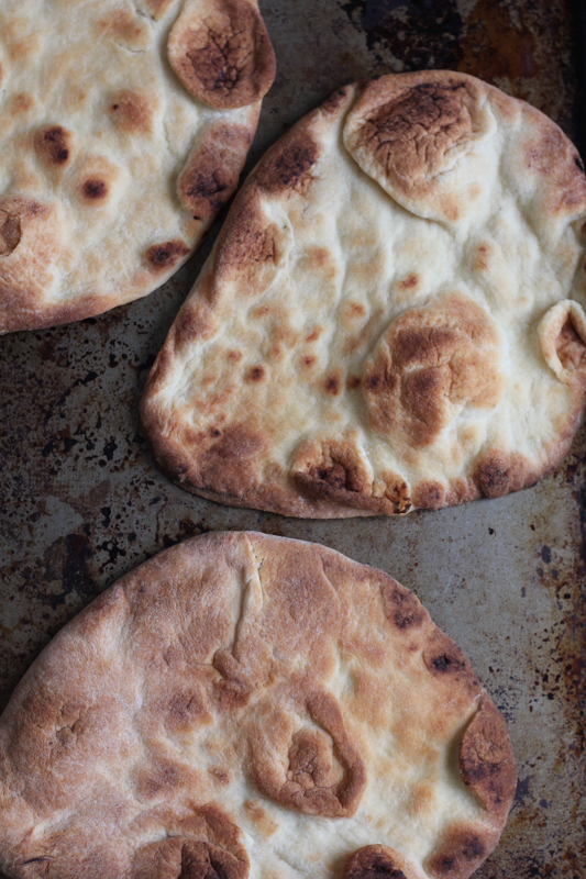 Naan bread for 7 Layer Dip Flatbread.