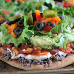 7 Layer Dip Flatbread