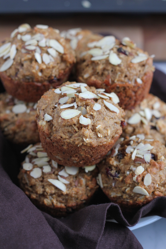 Packed with omega-3's, fiber and ingredients you can feel food about, these Coconut Almond Flaxseed Muffins are the perfect breakfast or on-the-go snack! #healthy #muffins #breakfast