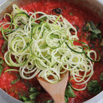 Zucchini Noodles with Puttanesca Sauce