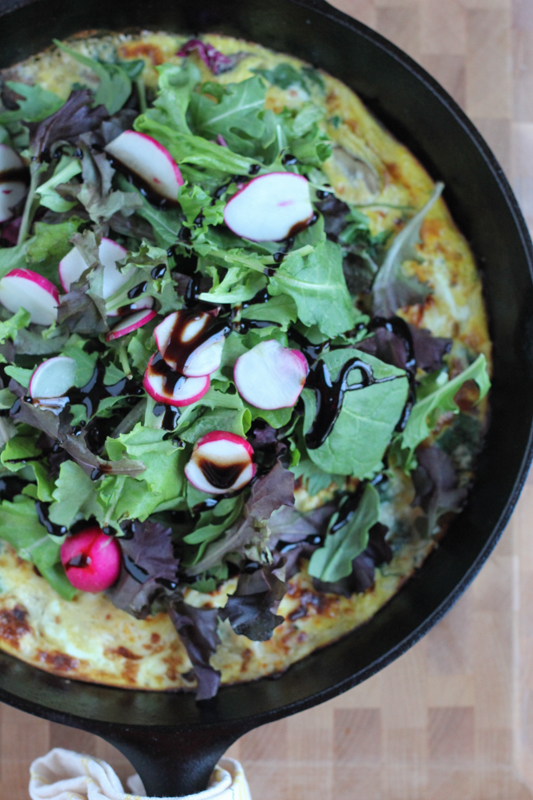 Celebrate spring's in-season veggies with this delicious spring medley frittata! Perfect for breakfast, brunch or any meal of the day!