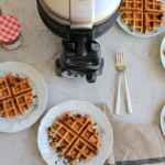 Chocolate Chip Flaxseed Waffles #BrunchWeek