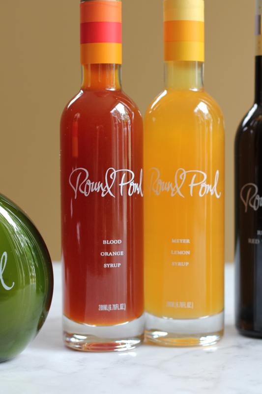 Round Pond Estates Blood Orange Syrup and Meyer Lemon Syrup