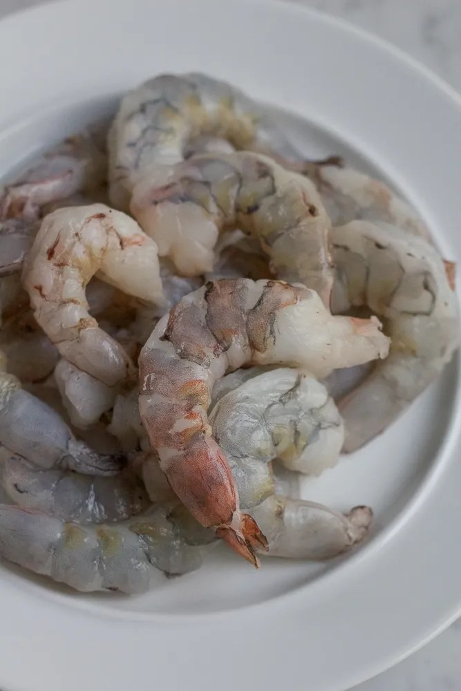 uncooked wild white shrimp