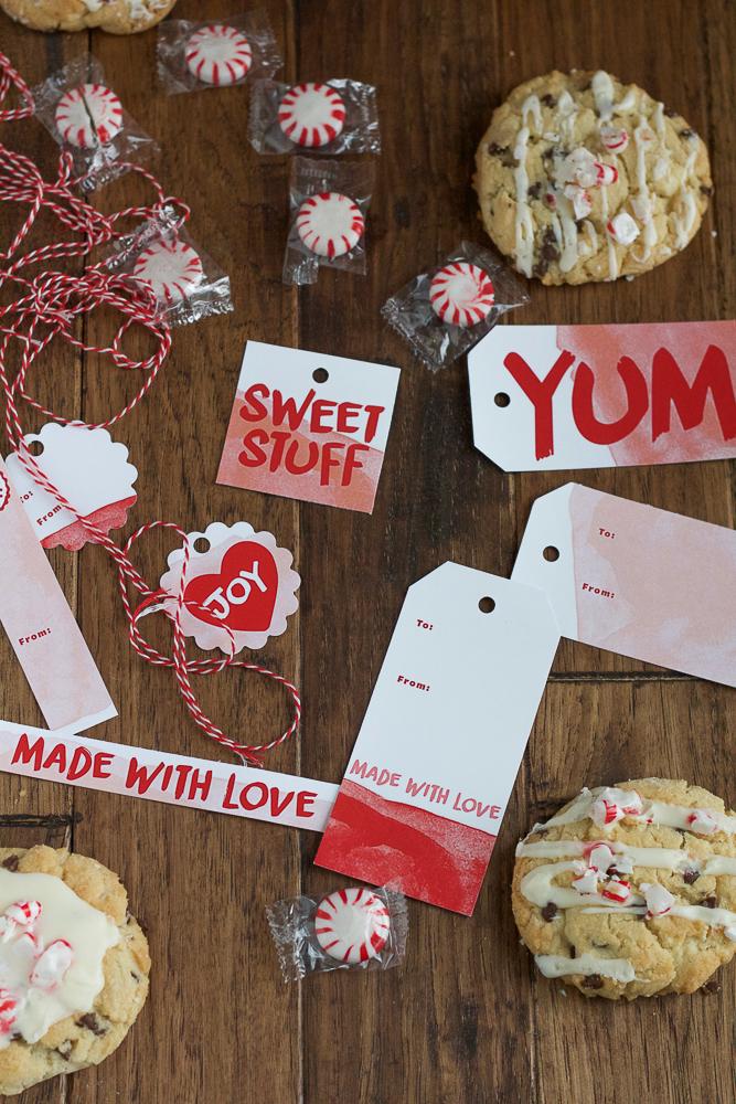 homemade gift tags for Christmas