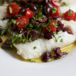 Baked Cod with Olive Topping