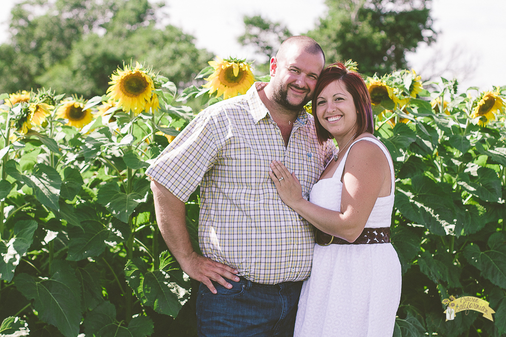 Mark and Jenny Sunflowers-2
