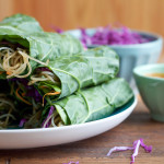 Spicy Asian Collard Green Wraps