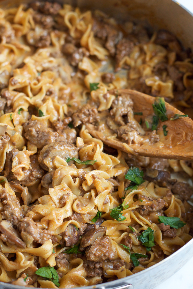 one-pot pasta dinner with beef