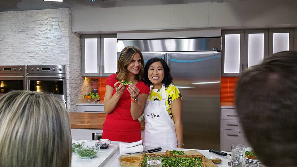 My Asparagus Gruyere Tart on The TODAY Show! It's been a crazy past few days but I wanted to share my experience with you all!
