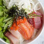Sashimi Rice Bowl + A Video!