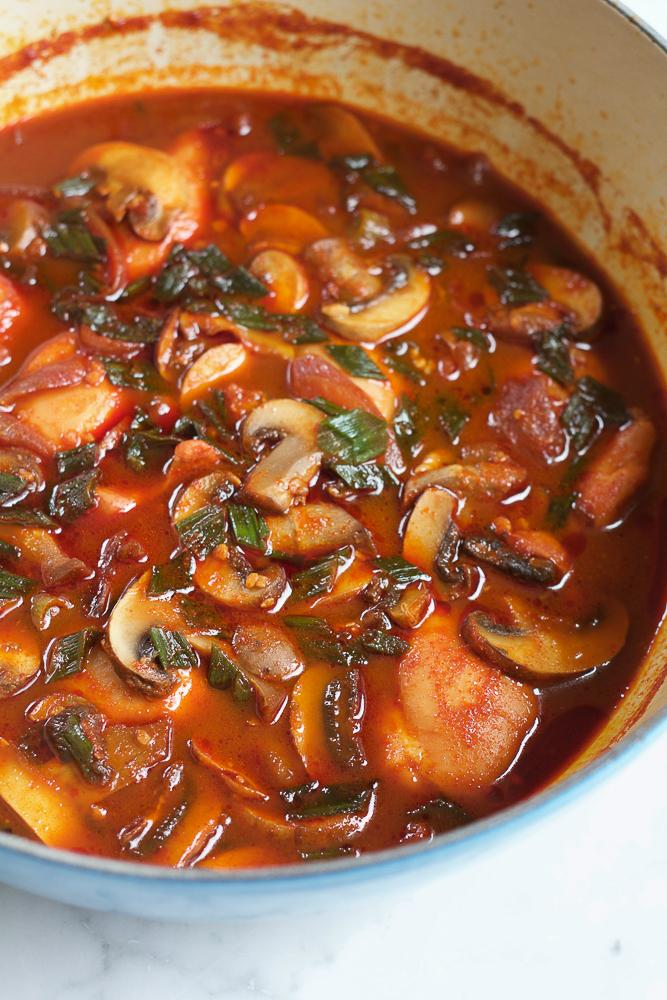 How to Make Spicy Korean Chicken Stew