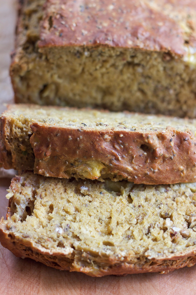Avocado Banana Chia Bread. Packed with goodness and loaded with avocado, bananas, chia seeds, buckwheat groats, hemp seeds and more! Delicious with butter, or just by itself. You've got to try this!