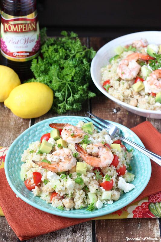 Shrimp-Pomeian-Quinoa-Salad