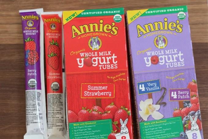 Boxes of yogurt tubes used for Frozen Berry Yogurt Bites.