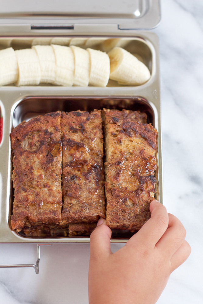 Cinnamon Flaxseed French Toast! Easy to make and so delicious, this french toast serves as a great, wholesome breakfast or an easy-to-pack lunch for your kids!