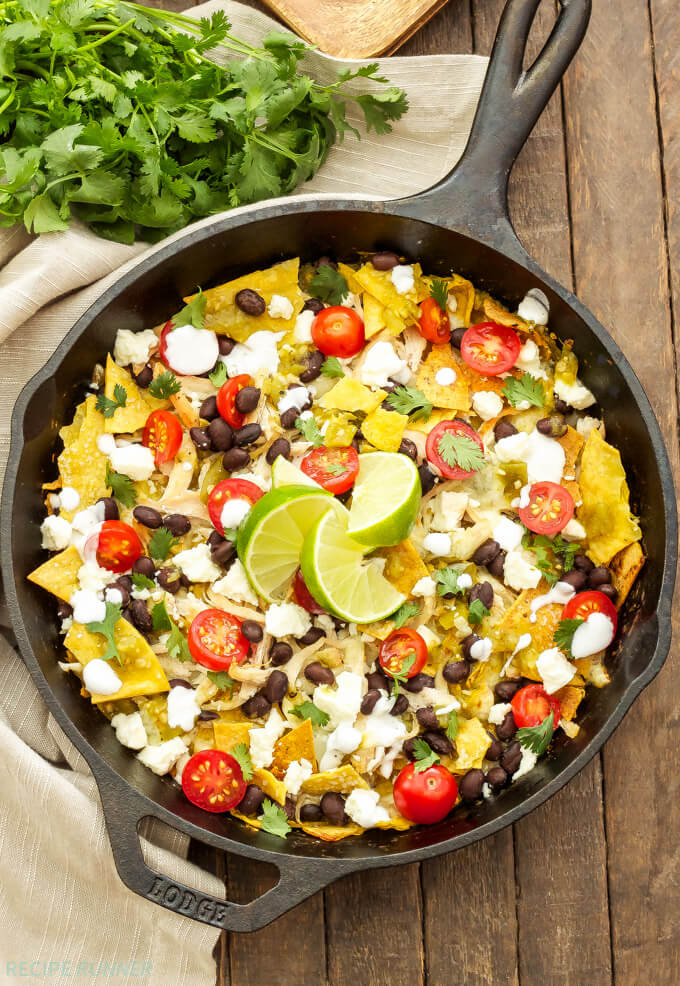 Skillet-Green-Chile-Chicken-Chilaquiles
