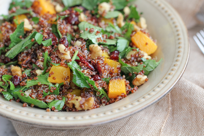 Healthy Weekly Meal Plan 9.17.16! A healthy weekly meal plan featuring Lemon Rosemary White Bean Toasts, Red Quinoa Butternut Squash Kale Salad, Butternut Squash and Black Bean Bowls and more!