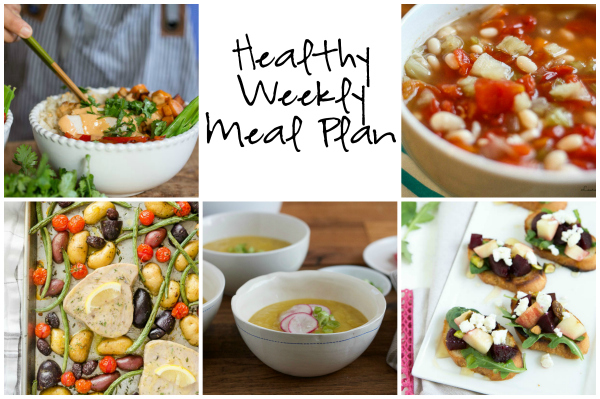 Healthy Weekly Meal Plan 10.29.16