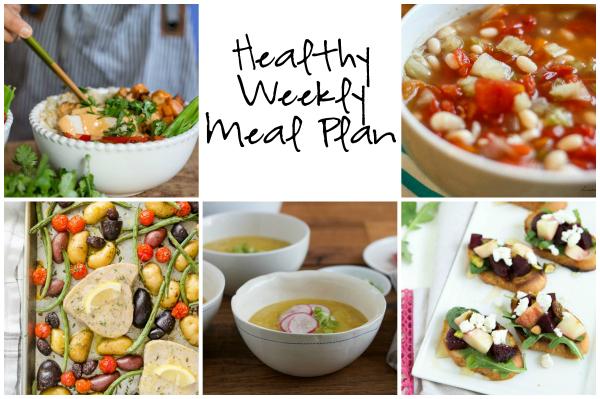 Healthy Weekly Meal Plan 10.29.16