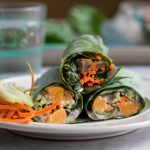 Roasted Butternut Squash Collard Wraps
