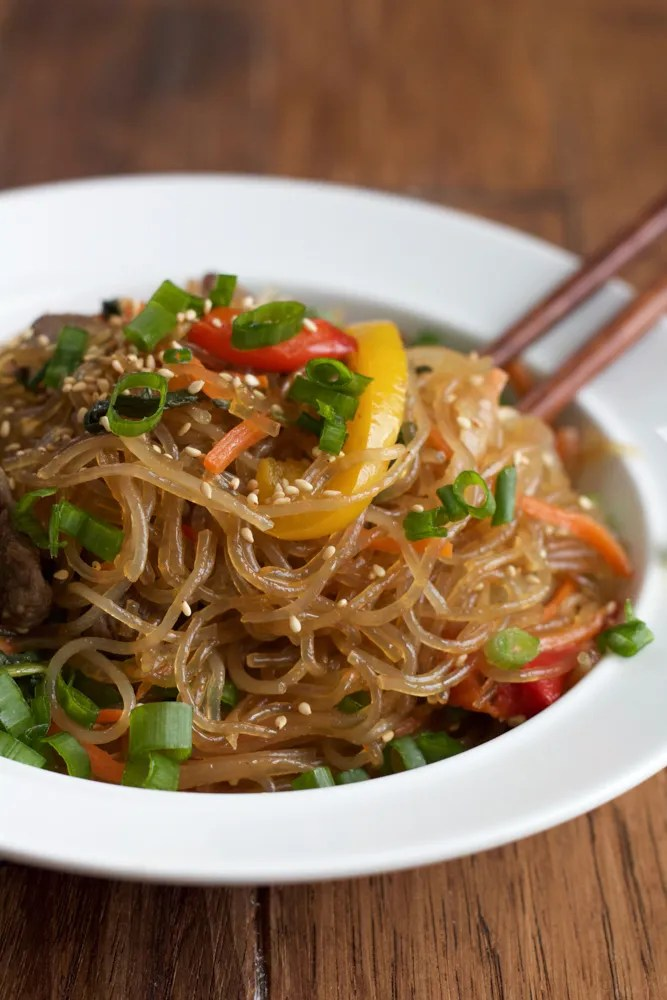 Korean main dish known as Japchae