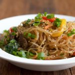 Japchae: Korean Stir Fried Noodles + Recipe Video
