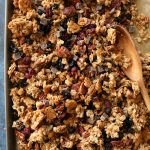 Gluten Free Maple Pecan Trail Mix Granola + Video!