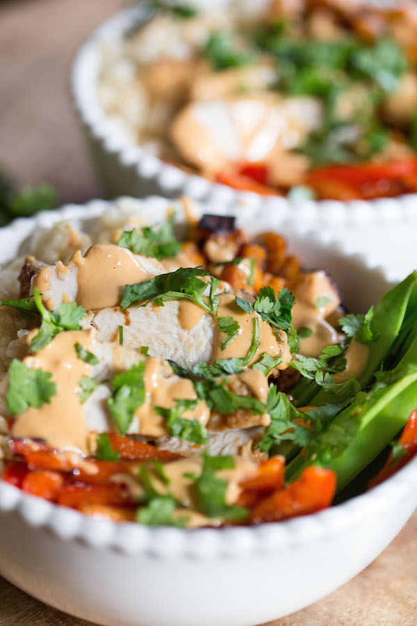 Healthy Weekly Meal Plan 4.1.17 featuring a Healthy Chicken Salad, Mexican Turkey Tortilla Casserole, Whole Grain Pasta with Vegetable Pesto and more!
