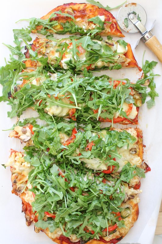 Four Cheese Leek and Mushroom Pizza