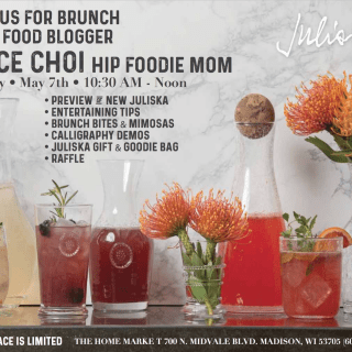 Join us for a fun and delicious spring brunch at The Home Market in Madison, WI. There will be food, sips, fun, a table setting demo, a calligraphy demo, prizes, gift bags and more! Hope to see you there!