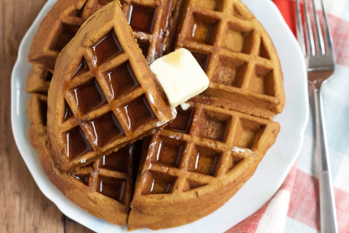 Easy Weekend Waffles + A Video! Make these delicious weekend waffles for your family, the kids or yourself! They are so easy to make and THE BEST tasting homemade waffles ever! Don't forget the fresh fruit and maple syrup!