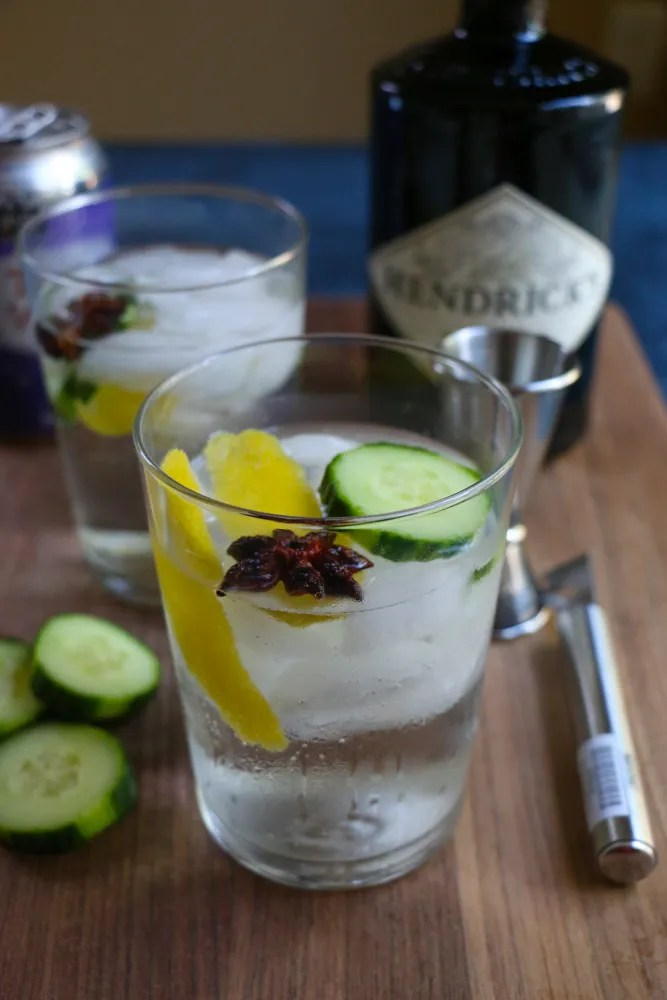 The BEST Gin and Tonic you will ever have! This one adds a fresh cucumber slice, lemon and star anise! Recipe from the AC Hotel Lounge here in Madison, Wisconsin!